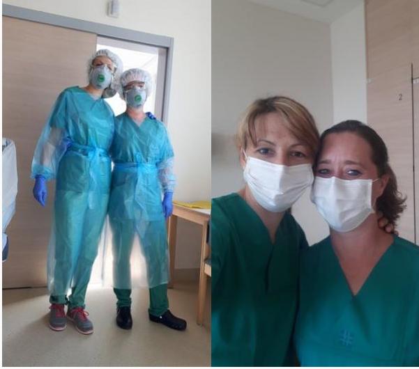 Unsere Kolleginnen im Krankenhauseinsatz